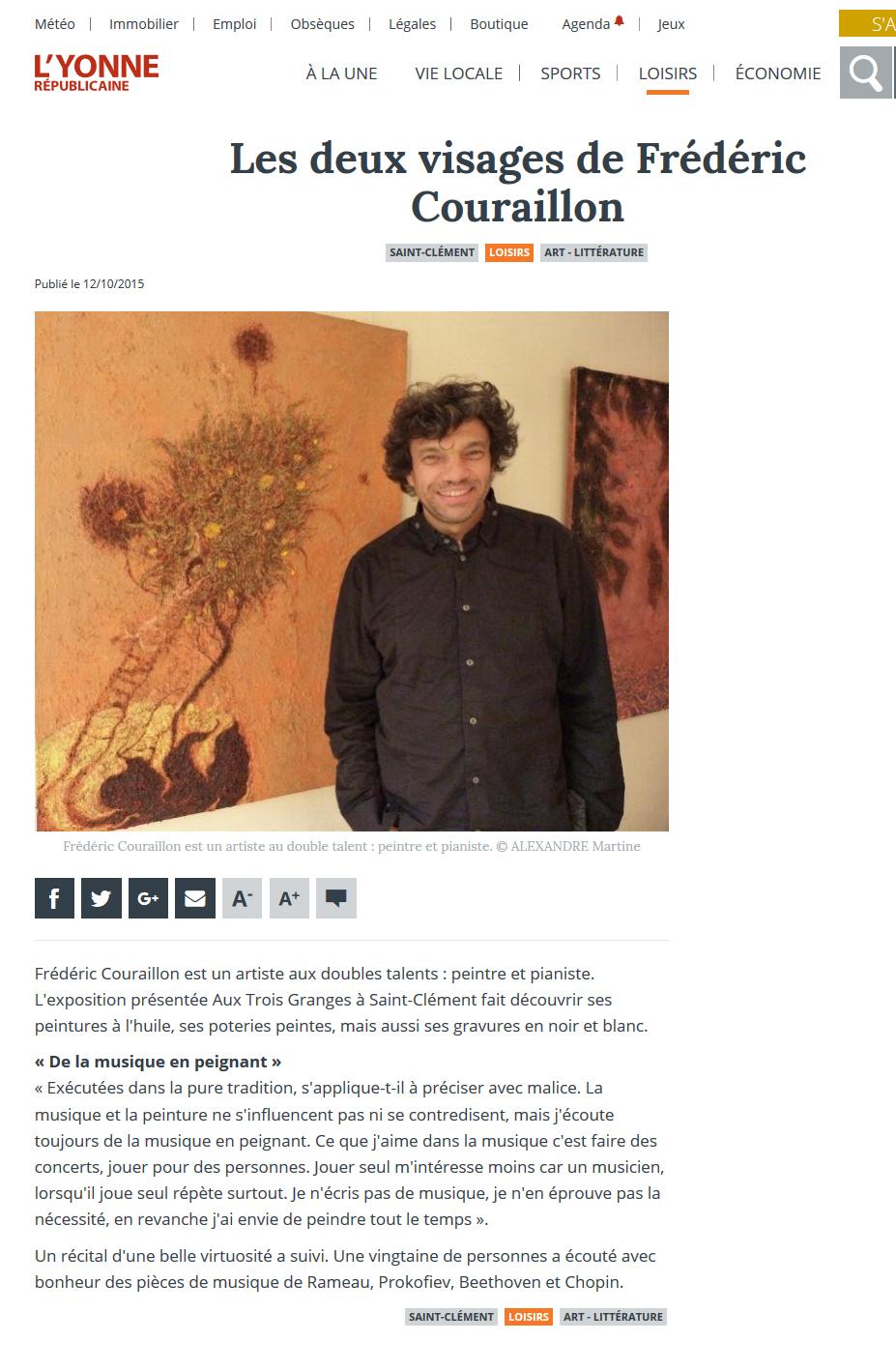 L'Yonne républicaine - 12 oct. 2015