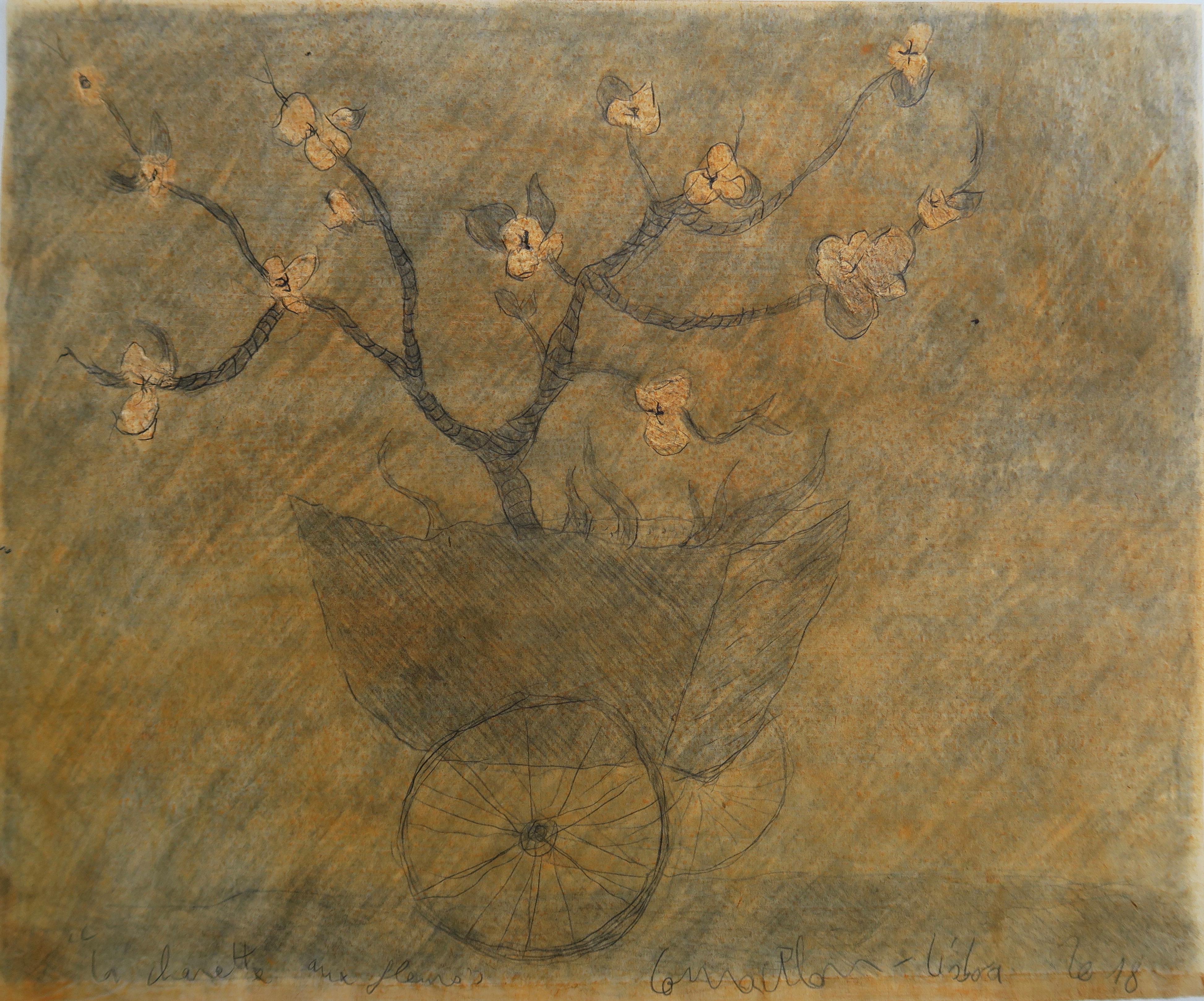 La charette aux fleurs