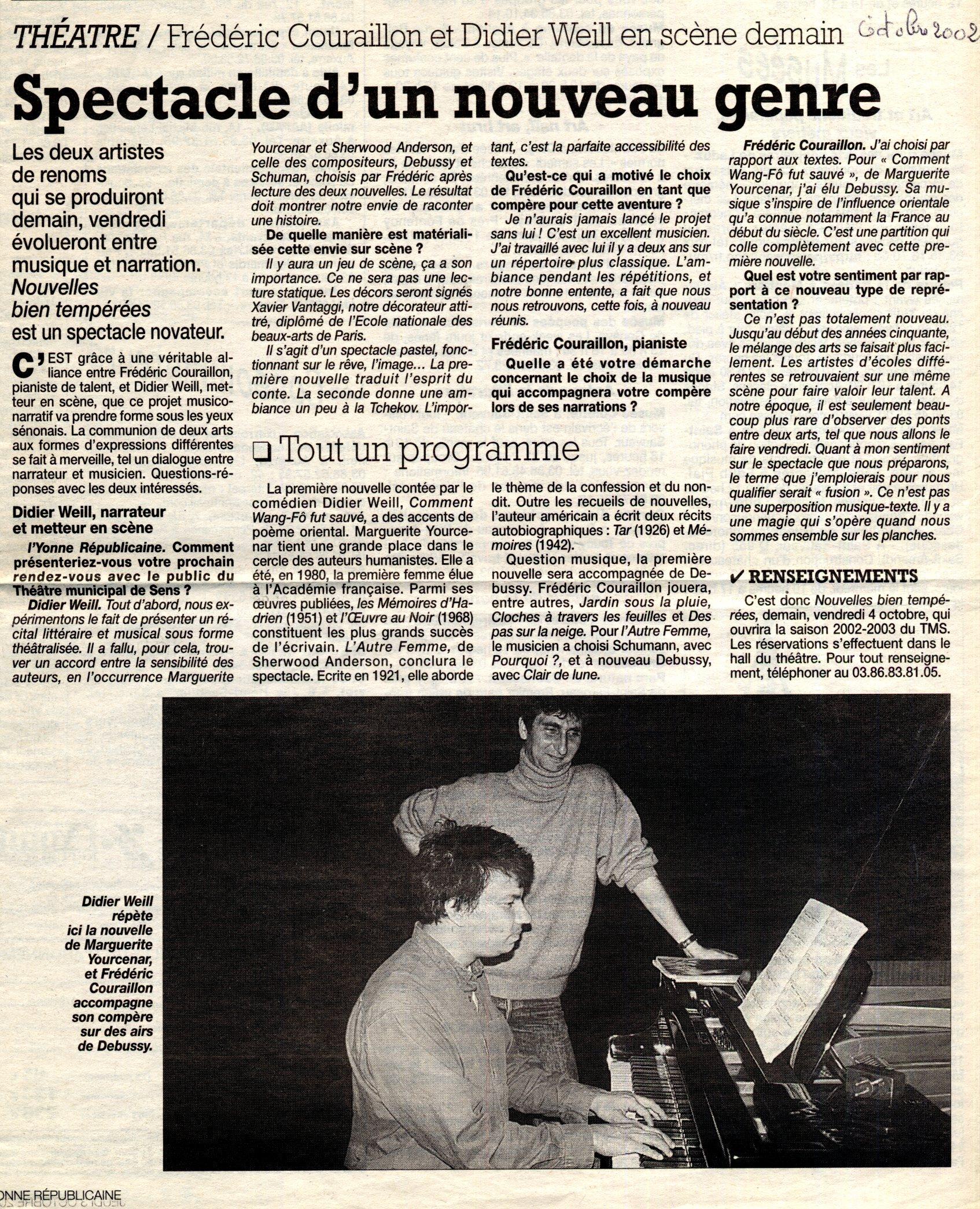 L'Yonne républicaine - octobre 2002