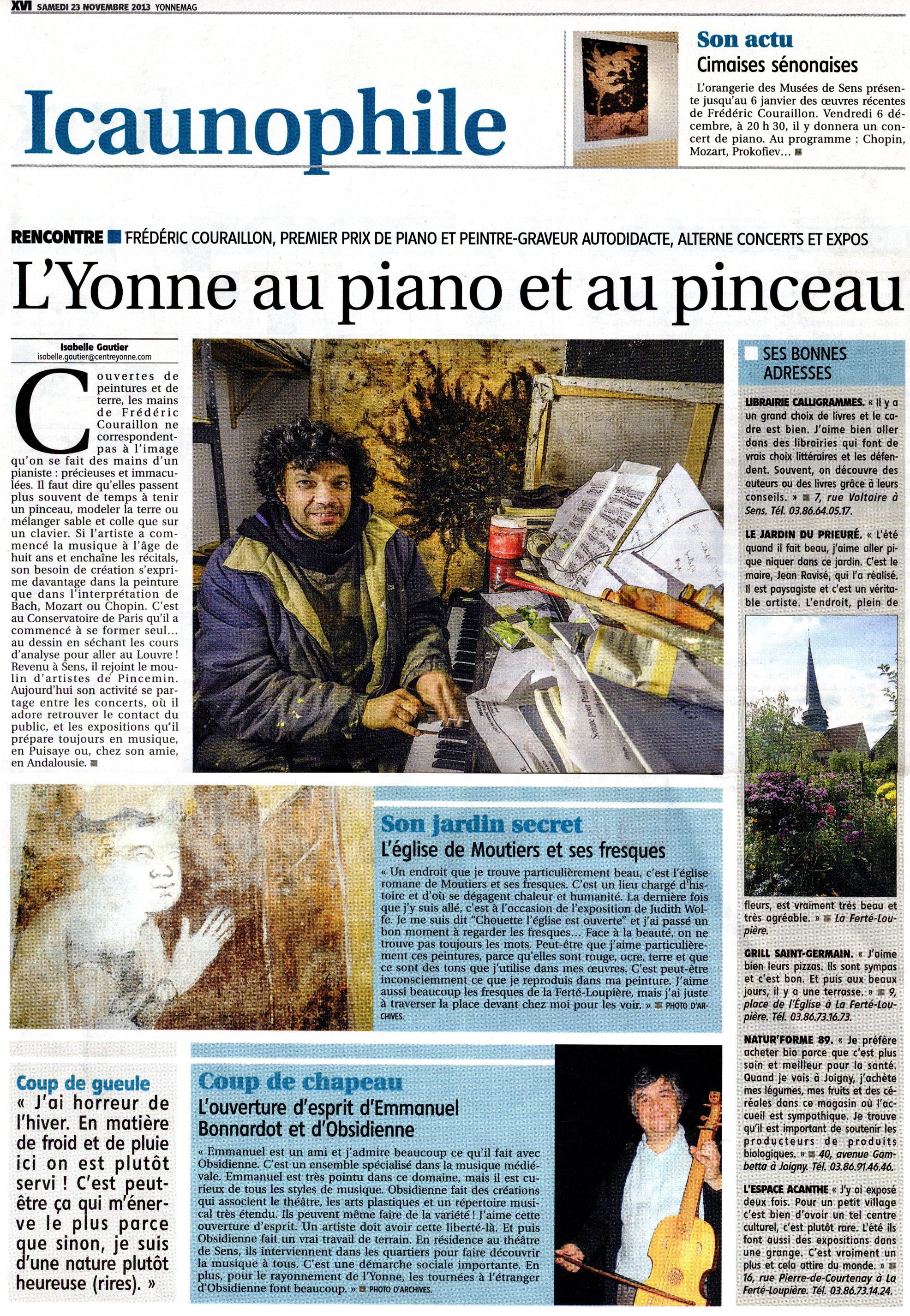 L'Yonne républicaine - 23 nov. 2013