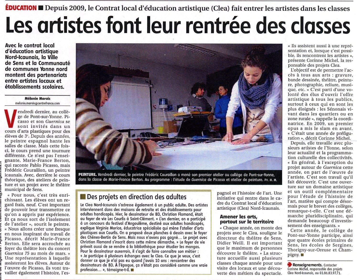 L'Yonne républicaine - 25 janv 2013