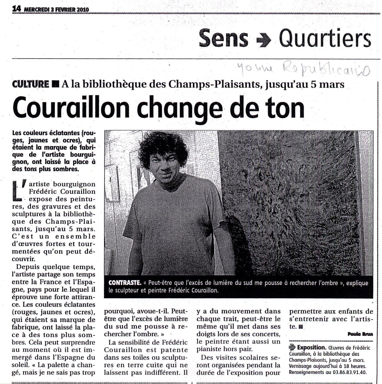 L'Yonne républicaine - 3 févr. 2010