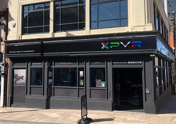XP-VR exterior store front. Visit us at 62 Piccadilly, Hanley, Stoke on Trent, Staffordshire.