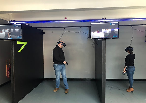 VR Escape Game adventures. 2-6 players, work as a team. Can your group escape in 60 minutes?