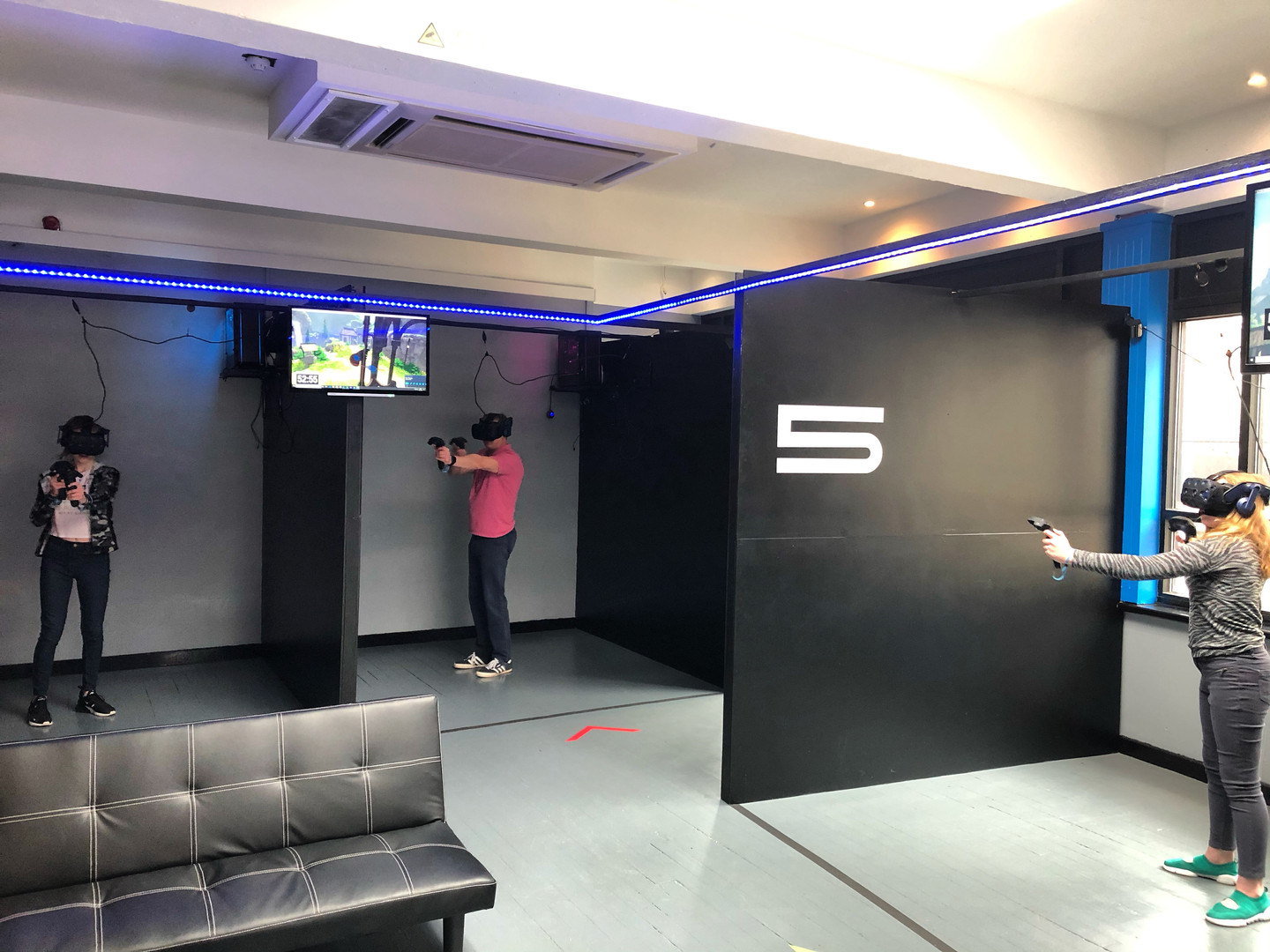 Play together as a family in a VR arena experience