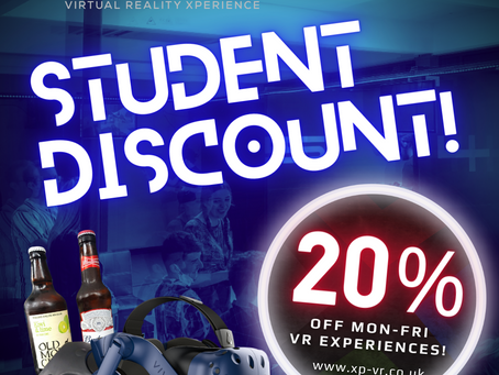 Students get 20% off - midweek!