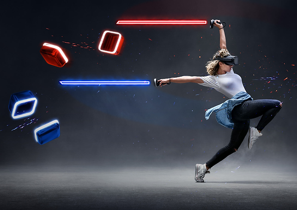 Play BeatSaber and over 20 other exciting games from the comfort of your own home. XP-VR home VR rental service.