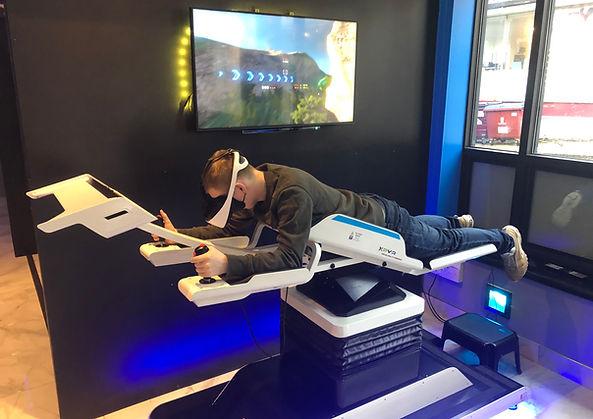 XP-VR 7D flying motion simulator at XP-VR, Stoke on Trent