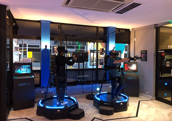 VR Walkstations at XP-VR. Premium gaming experience. 360 VR locomotion treadmills. Physically step inside the game!