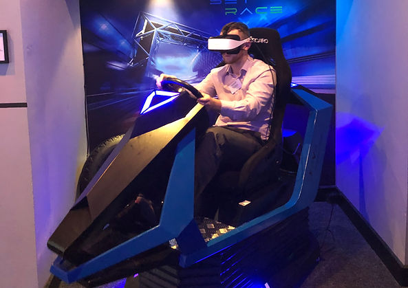 Epic racetrack thrills. Experience the 7D VR racing motion simulator at XP-VR
