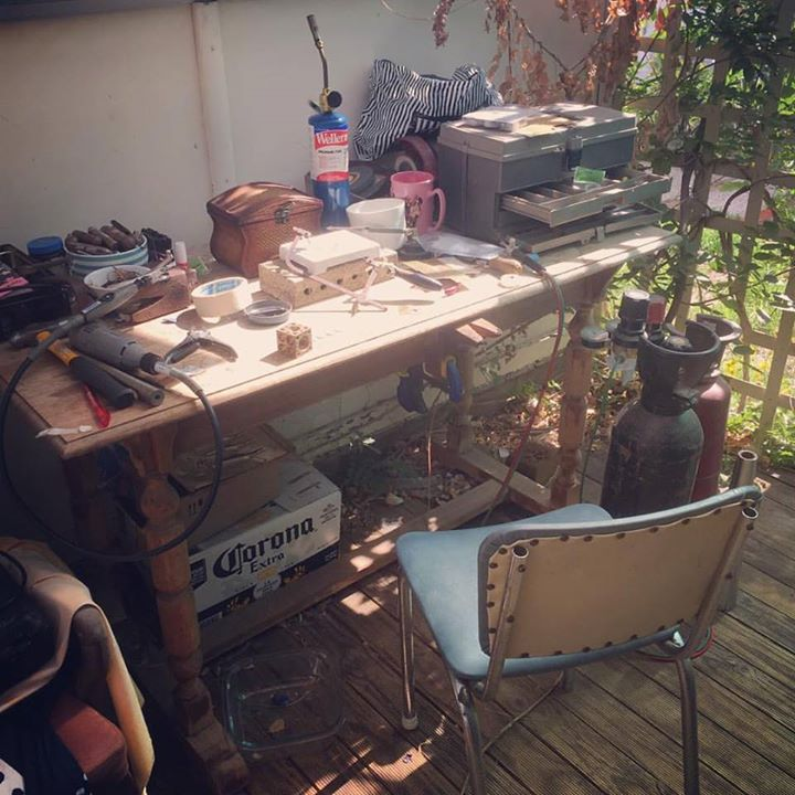 Out back jeweller😊.jpg Once a jeweller always a jeweller.jpg Welcome to the work station