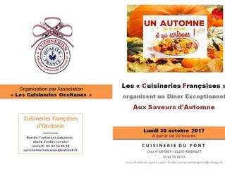 Les chefs Cuisiniers des Cuisineries préparent un Diner d'été, le LUNDI 30 Octobre à 20h à la cu