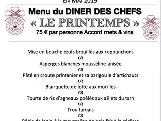 Diner des chefs PRINTEMPS 6 Mai LABOUTARIE au restaurant L'IMPERIAL