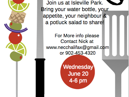 NECC BBQ June 20th 4-6pm