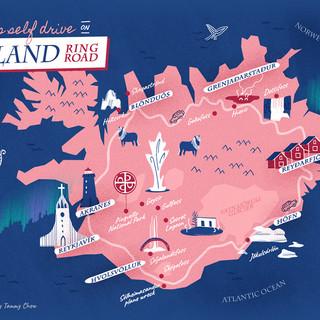 Iceland Roadtrip Map