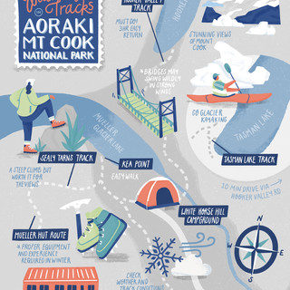 Mt Cook, New Zealand Map