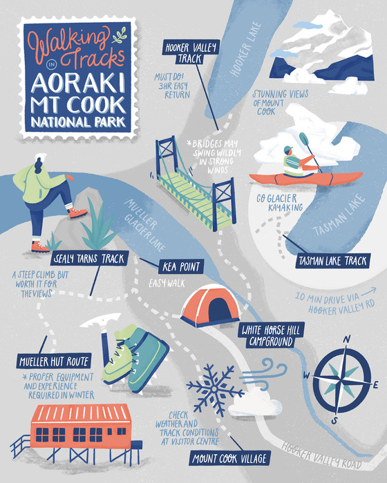 illustrated-map-mt-cook-new-zealand-trai
