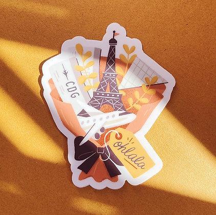 Paris Ohlala Diecut Sticker