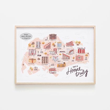 Home, Truly - Singapore Art Print