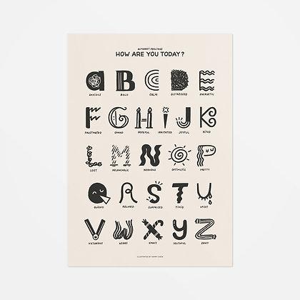 Alphabet Feelings Art Print