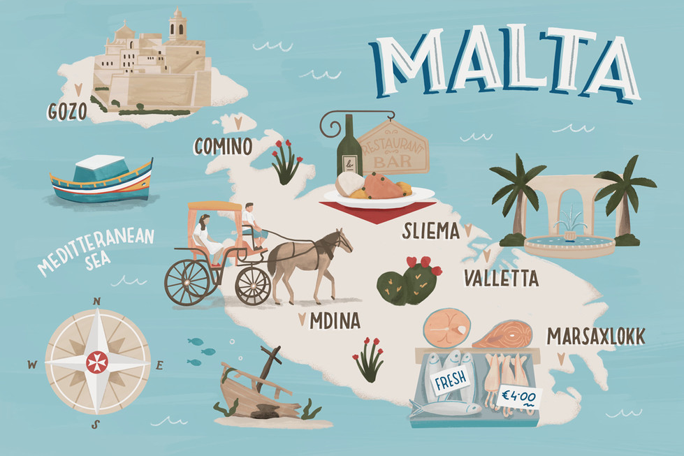 illustrated-map-of-malta-tammy-chewjpg
