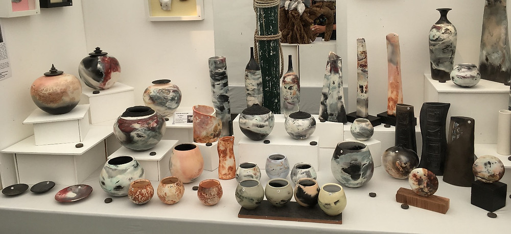 Jane Gibson's stand at Art in Clay Hatfield 2017
