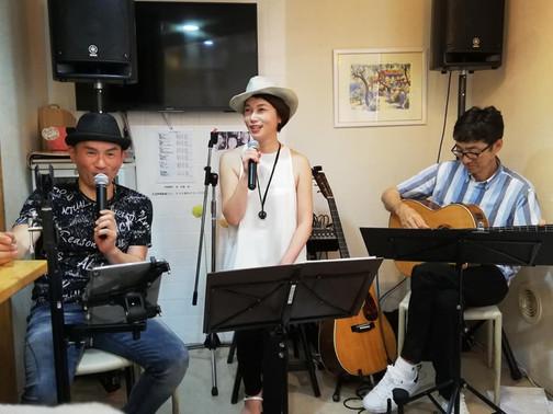 8月3日(土)谷弦緑ライブ@庄原ひだまりカフェ報告