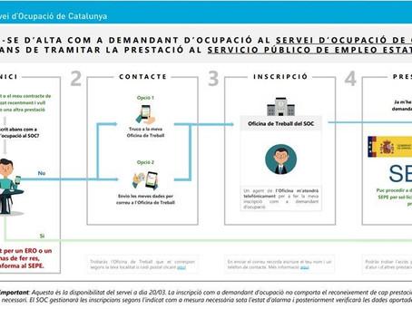 SOC Servei d'Ocupació de Catalunya - covid19