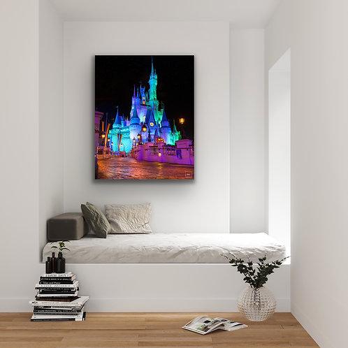 WDW Cinderella's Castle a Halloween Sky