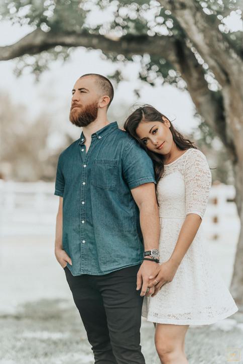 Jany Neil Denim White Dress Couples Shoot