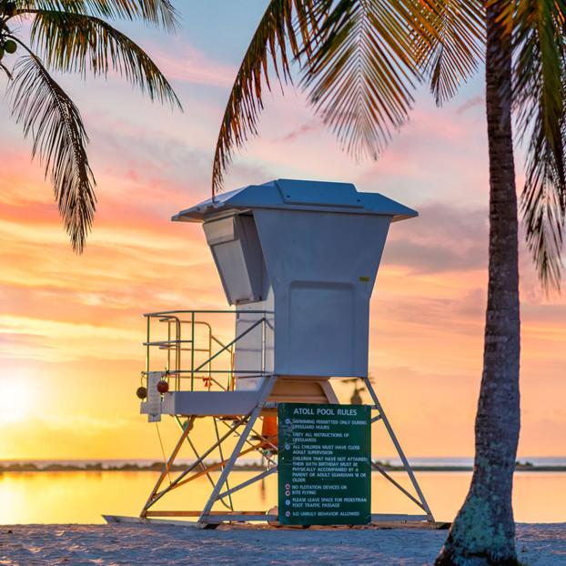 Lifeguard Tower Sunrsie