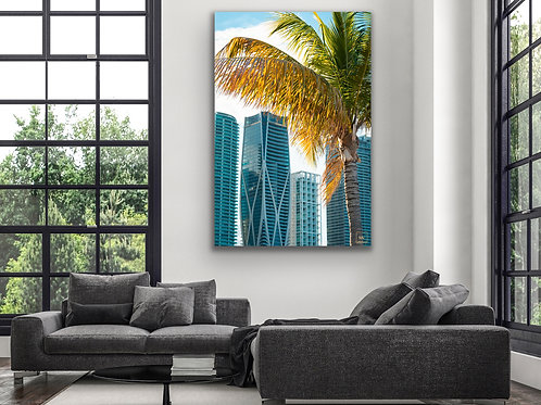 Skyline with a Palm Tree