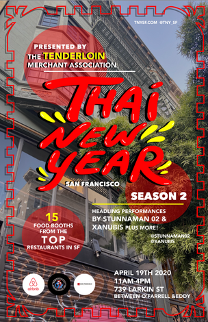 Thai New Year in SF Poster