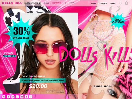 Dolls Kill Webpage