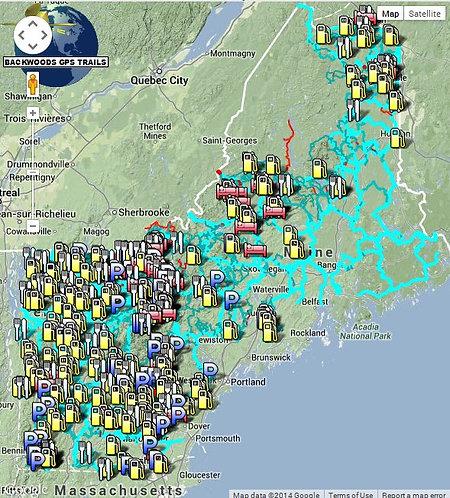 Backwoods GPS - NH ME VT