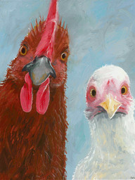Chicken and Rooster