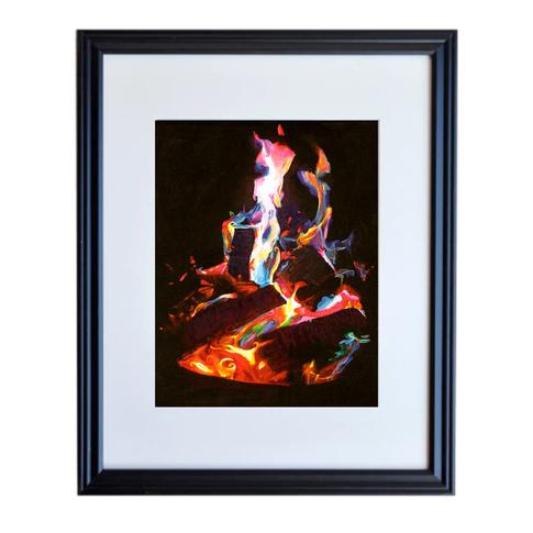 Fire Poster Print Framed