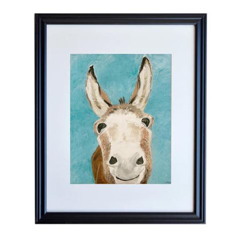 Donkey Poster Print Framed