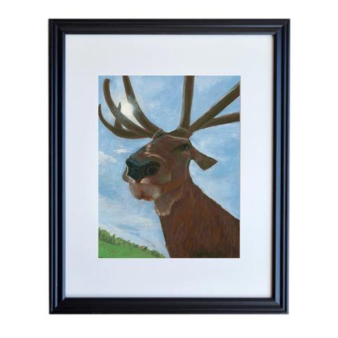 Elk Poster Print Framed