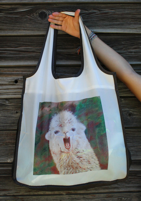 Llama Reusable Shopping Bag