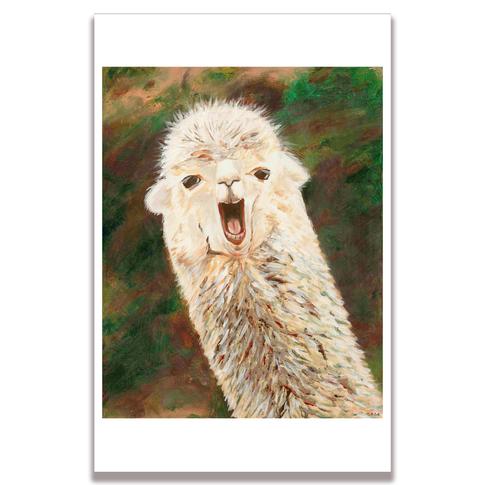 Llama Poster Print