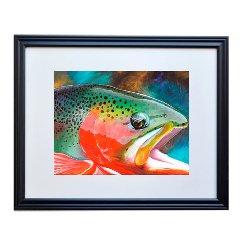 Cutthroat Trout Poster Print Framed