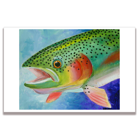 Rainbow Trout Poster Print