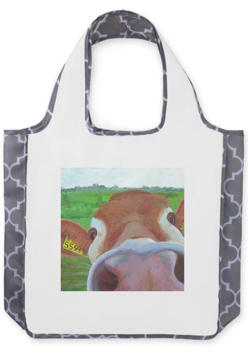 Cow Nose Reusable Shopping Bag