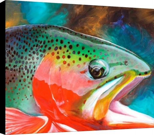 Cutthroat Trout Canvas Print
