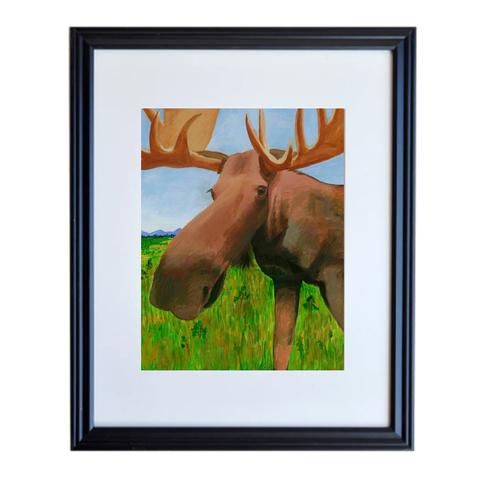 Moose Poster Print Framed
