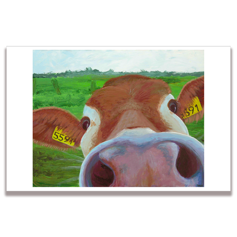 Cow Nose Poster Print