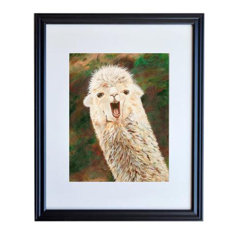 Llama Poster Print Framed