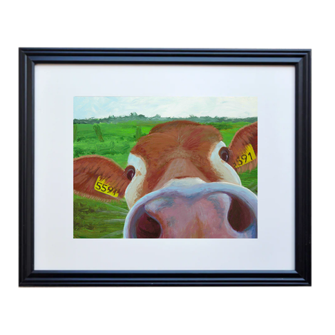Cow Nose Poster Print Framed