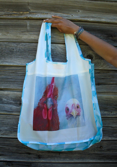 Chicken and Rooster Reusable Shopping Bag
